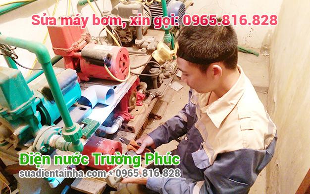 Sửa máy bơm tại Giảng Võ