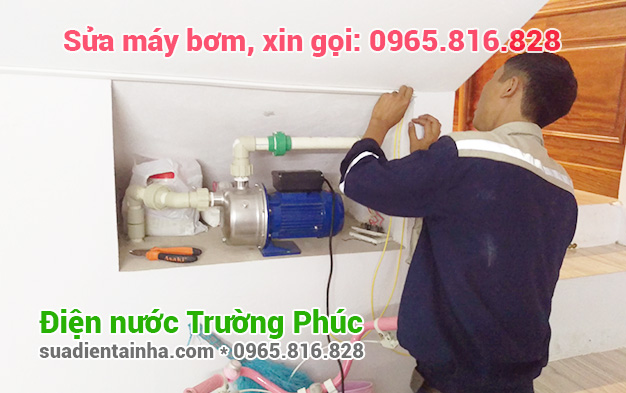 Sửa máy bơm tại Kim Mã