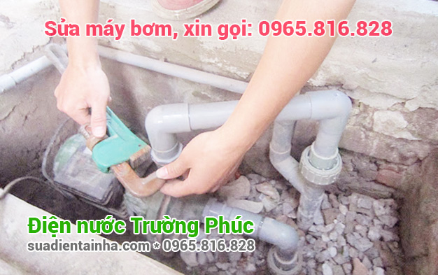 Sửa máy bơm tại Nhật Tân