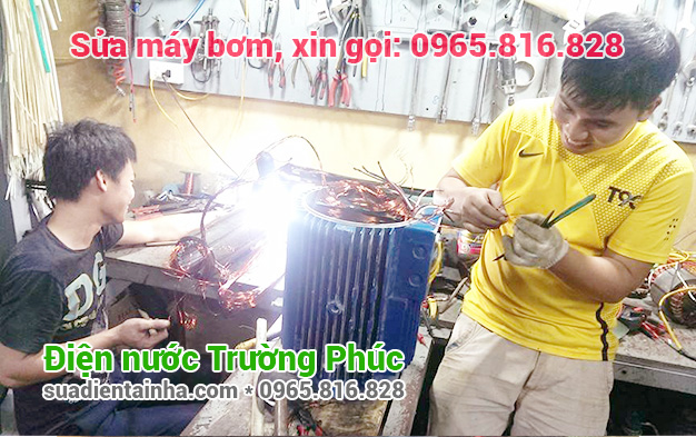 Sửa máy bơm tại Yên Phụ